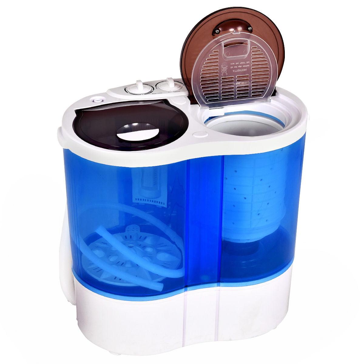 Costway Portable Mini Washing Machine Compact Twin Tub 15lb Washer ...