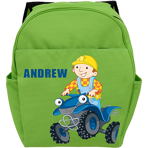 Personalized Bob the Builder Scrambler Green Toddler Backpack