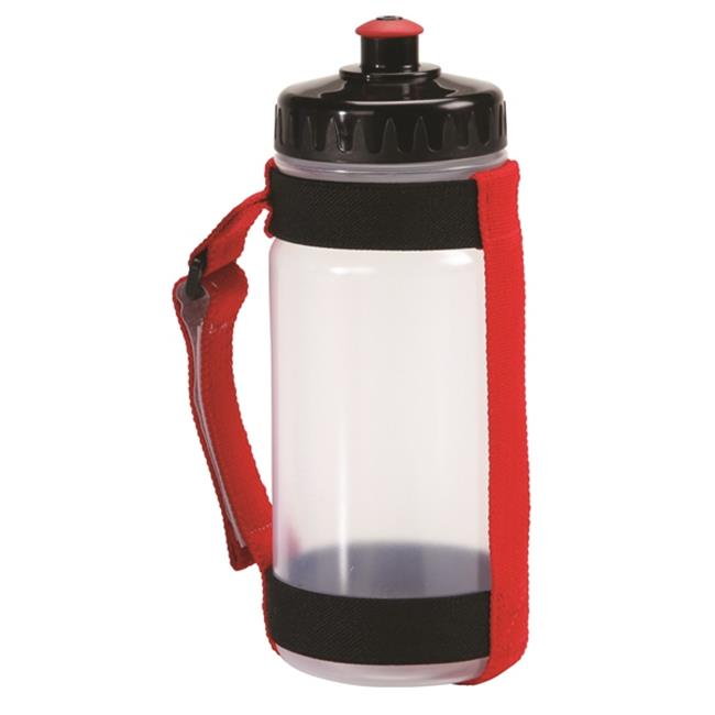 AGM Group 78262 Slim Handheld Bottle Carrier with 550 ml - Red