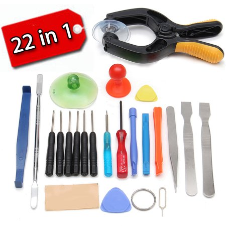Grtxinshu 22 in 1 Phone LCD Screen Opening Handset Maintenance Tool, Plier Suction Cup Pry Spudger Repair Screwdrivers,Suction Cups Screw Driver for all Smartphones - Lcd Panel Driver
