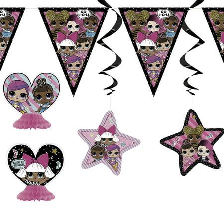 LOL Surprise Birthday Party Decorating Kit, 7pcs