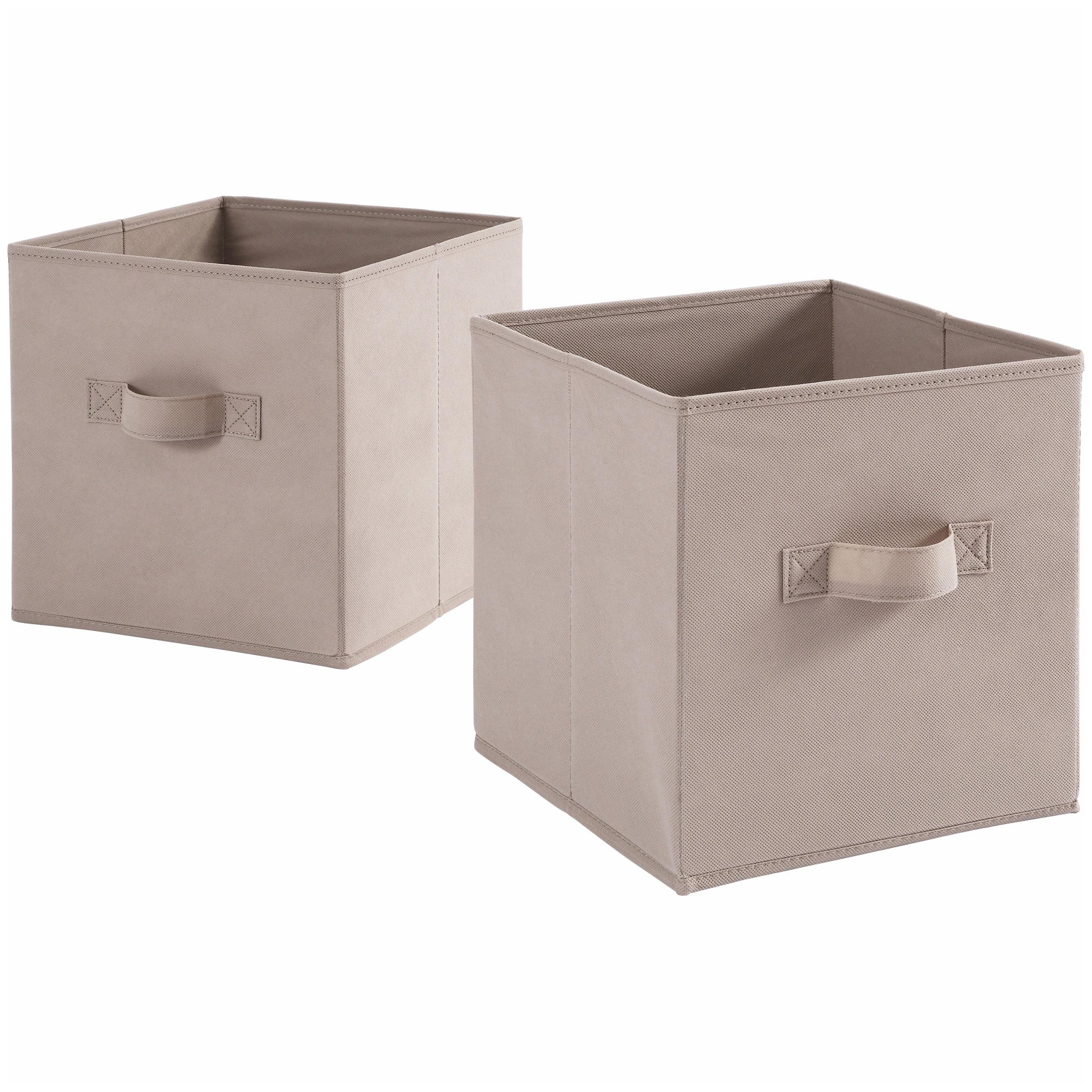 Mainstays Collapsible Fabric Storage Cube Set Of 2 Multiple Colors 10 5 X 10 5 Walmart Com Walmart Com