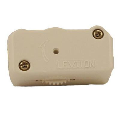 Cord Dimmer - Leviton Ivory 3-Position HI-LO-OFF Lamp Cord Dimmer Switch 200W 120V 1420-I