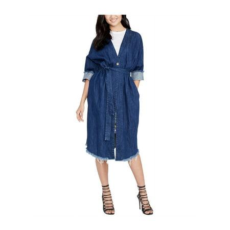 Rachel Roy Womens Cotton Denim Coat darkwash M - image 1 de 1