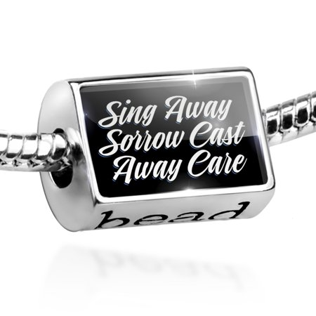 (Bead Classic design Sing Away Sorrow Cast Away Care Charm Fits All European Bracelets)