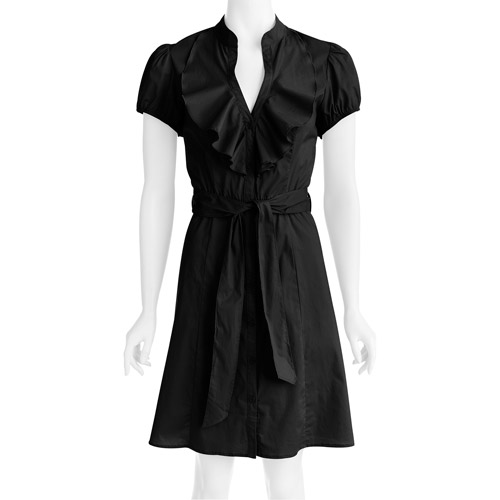 Susie Rose Collection Womens Plus-Size Ruffle-Front Woven Dress