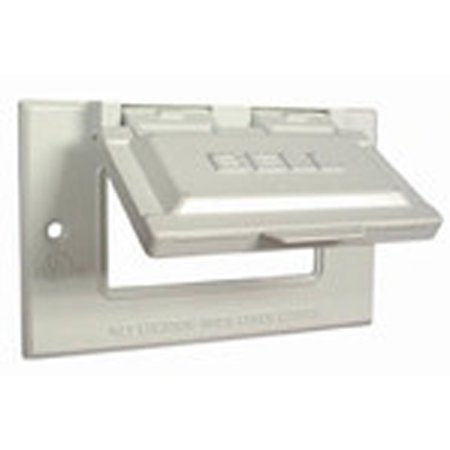 Hubbell-Raco 5101-6 GFCI Receptacle, 1-Gang, Weatherproof Cover