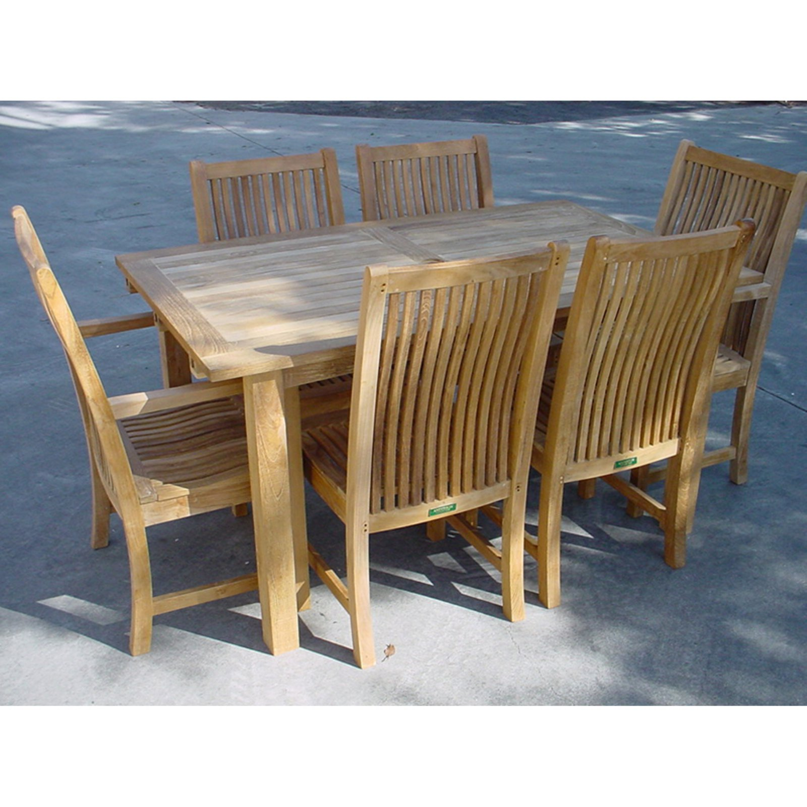 Anderson Teak Chicago 7 Piece Rectangle Patio Dining Room Set by Anderson