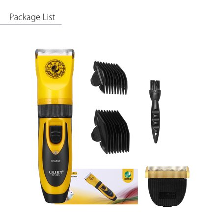 Professional Mute 35W Electric Dog Cat Hair Trimmer Clipper Shaver Pet Grooming Kit Five Fine-tuning Speed Haircut Set with with Durable Battery and Strong Motor - image 5 of 10