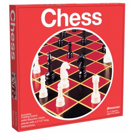 Games - Pressman Toy - Chess (Red Box) New 1901-06