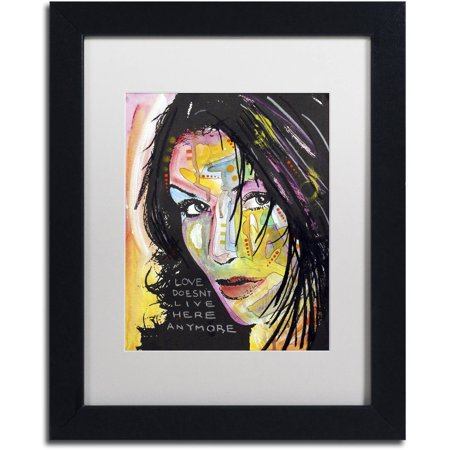 Trademark Fine Art  Love Doesnt Live Here  Canvas Art By Dean Russo  White Matte  Black Frame