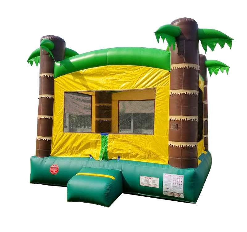 Pogo Tropical Crossover Kids Jumper Inflatable Bounce House with Blower by Pogo Bounce House