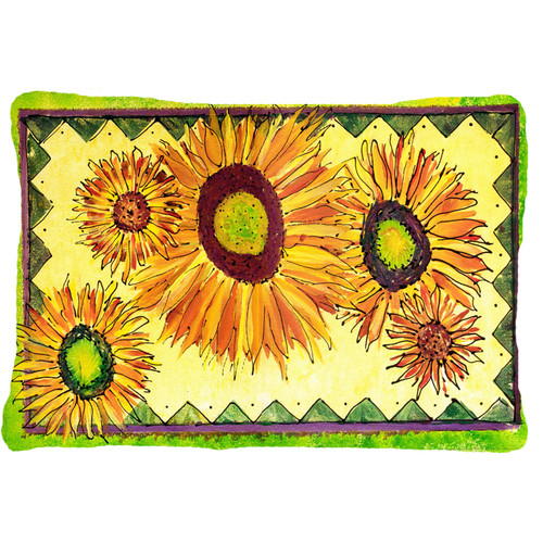 Caroline's Treasures Sunflower Indoor/Outdoor Throw Pillow