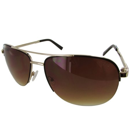 Guess Mens GF0164 Semi Rimless Wire Frame Fashion Sunglasses