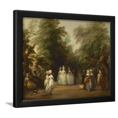 The Mall in St. James's Park, Ca. 1783 Framed Print Wall Art By Thomas (St Louis Outlet Mall Stores)