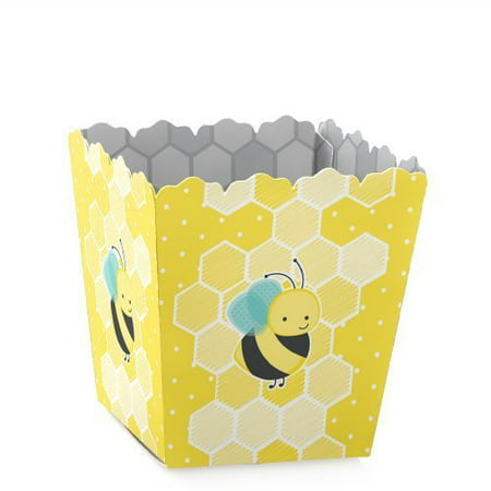 Honey Bee - Party Mini Favor Boxes - Baby Shower or Birthday Party Treat Candy Boxes - Set of 12 Mini Treat Boxes