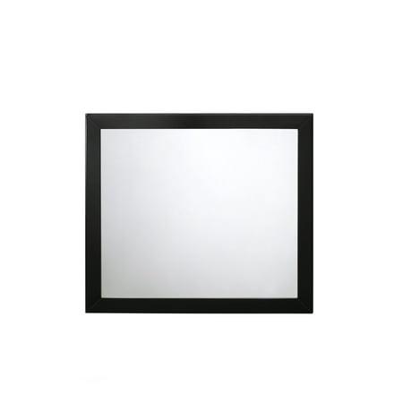 Black Frame Mirror - ACME Ulrik Rectangular Beveled Mirror in Black Frame