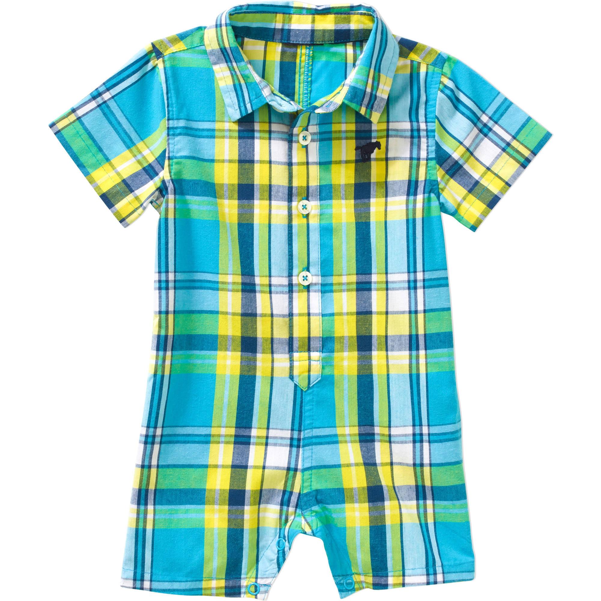 Newborn Baby Boy Woven Romper - Walmart.com