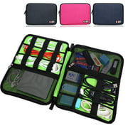 Cable Box Organizer, Electronics Accessories Organizer Storage Bag For Cables, USB Hard Drive, Plug, External Flash Drive and More, Lightweight