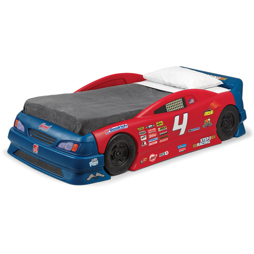 step2 stock car convertible toddler to twin bed - walmart