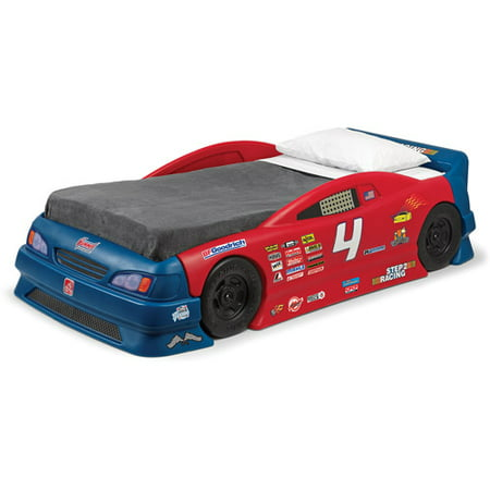 Step2 Stock Car Convertible Toddler to Twin Bed, Red and Blue (Step 2 Car Bed)