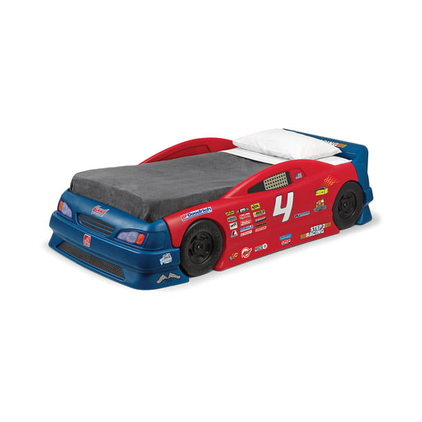 Step2 Stock Car Convertible Toddler To Twin Bed Red And Blue Walmart Com Walmart Com