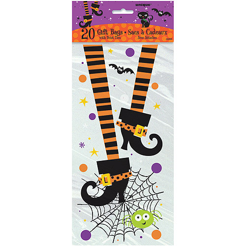 Spooky Boots Halloween Cello Bags, 20ct