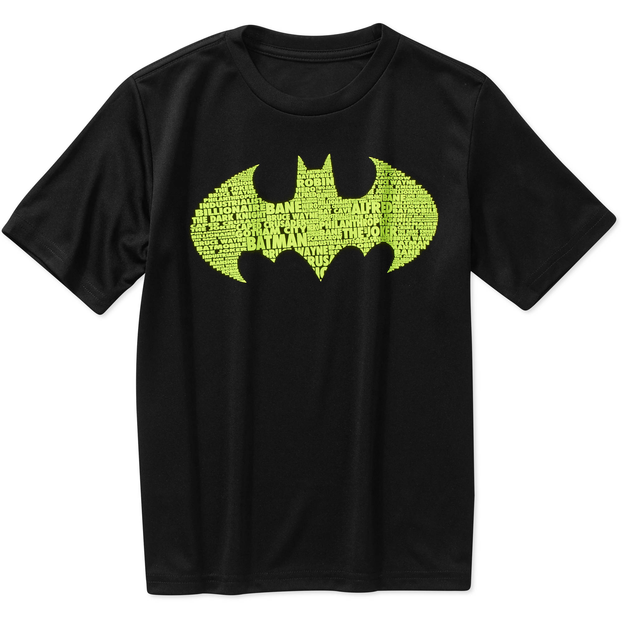 DC Comics Batman Text In Logo Boys' Poly Graphic Tee