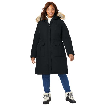Woman Within Women's Plus Size The Arctic Parka™ in Knee Length Knee Length Nylon Coat
