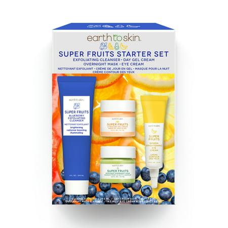 Earth to Skin Super Fruits Starter Kit, 4 Piece Se...