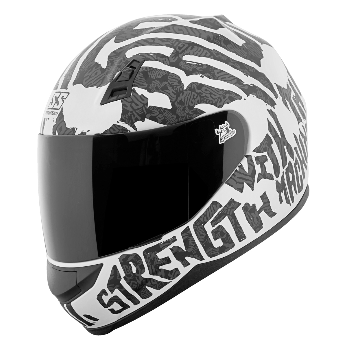 Speed & Strength SS700 Rage With The Machine Full Face Helmet White/Black