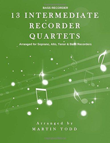 13 Intermediate Recorder Quartets Bass Recorder by
