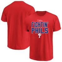 Men's Majestic Red Philadelphia Phillies Alias T-Shirt