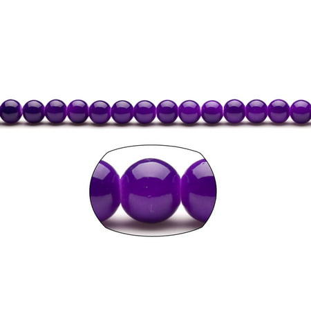 Indigo Pearls 8mm Solid-Tone Glass Beads 110-Bead Count