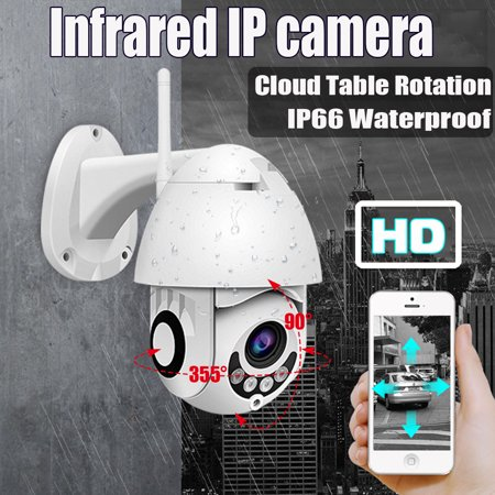 IP66 Waterproof Outdoor WiFi HD 1080P IP Camera Wireless Security Speed Dome Camera Night Vision Two-way Intercom Support ONVIF