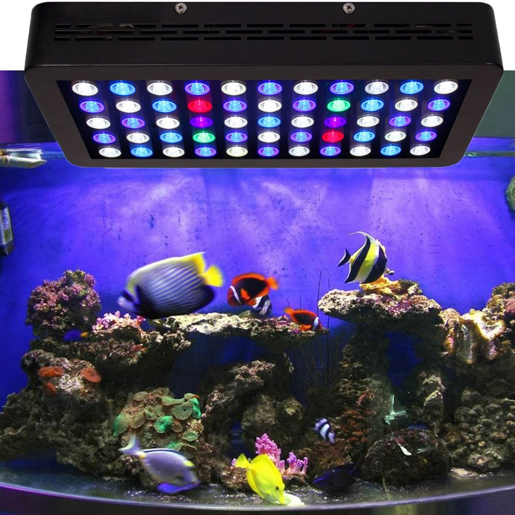 Dimmable 165W LED Aquarium Light Full Spectrum For Grow Coral Reef Fish Tank by
