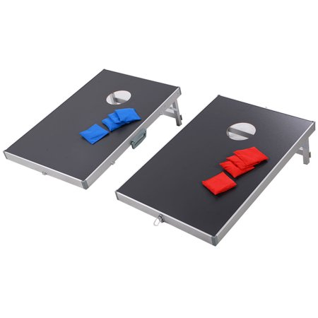 Cornhole Set Tailgate Toss Game (Foldable Bean Bag Toss Cornhole Game Set Boards Tailgate Regulation Baggo)