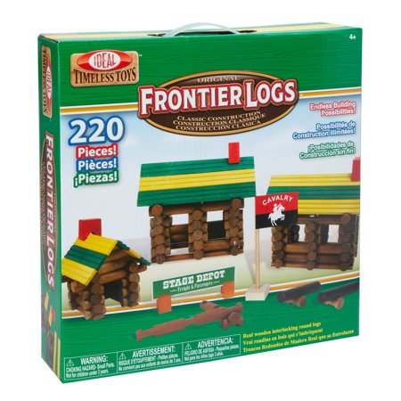 Ideal Frontier Logs 220 Piece Classic Wood Construction (Frontier Building Set)