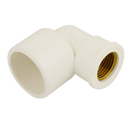 Unique Bargains 1/2  PT Female Threaded Right Angle Union Elbow Fitting Coupling Off White](Walmart Half Off Clearance)