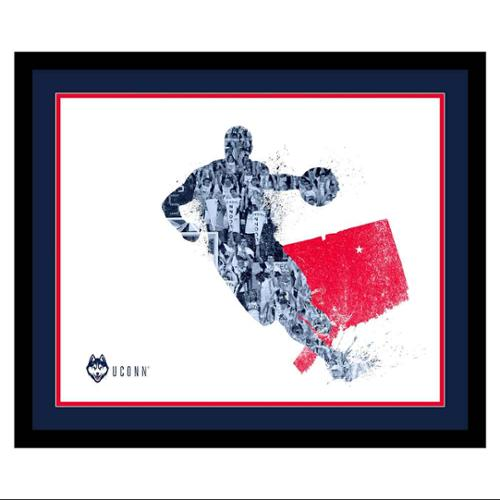 Framed UConn Huskies Silhouette Art (19 in. W x 16 in. H ...
