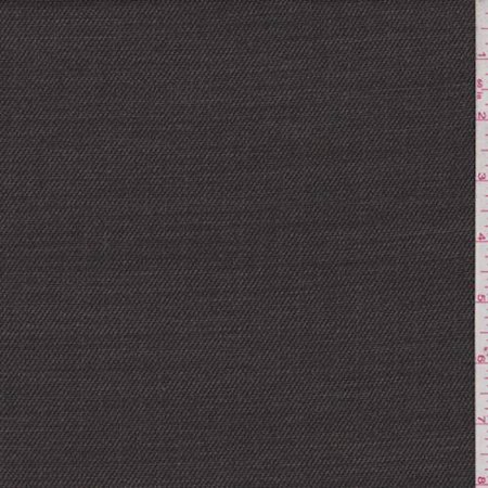 Heather Brown/Black Wool Blend Twill Crepe, Fabric By the - Crepe Wool