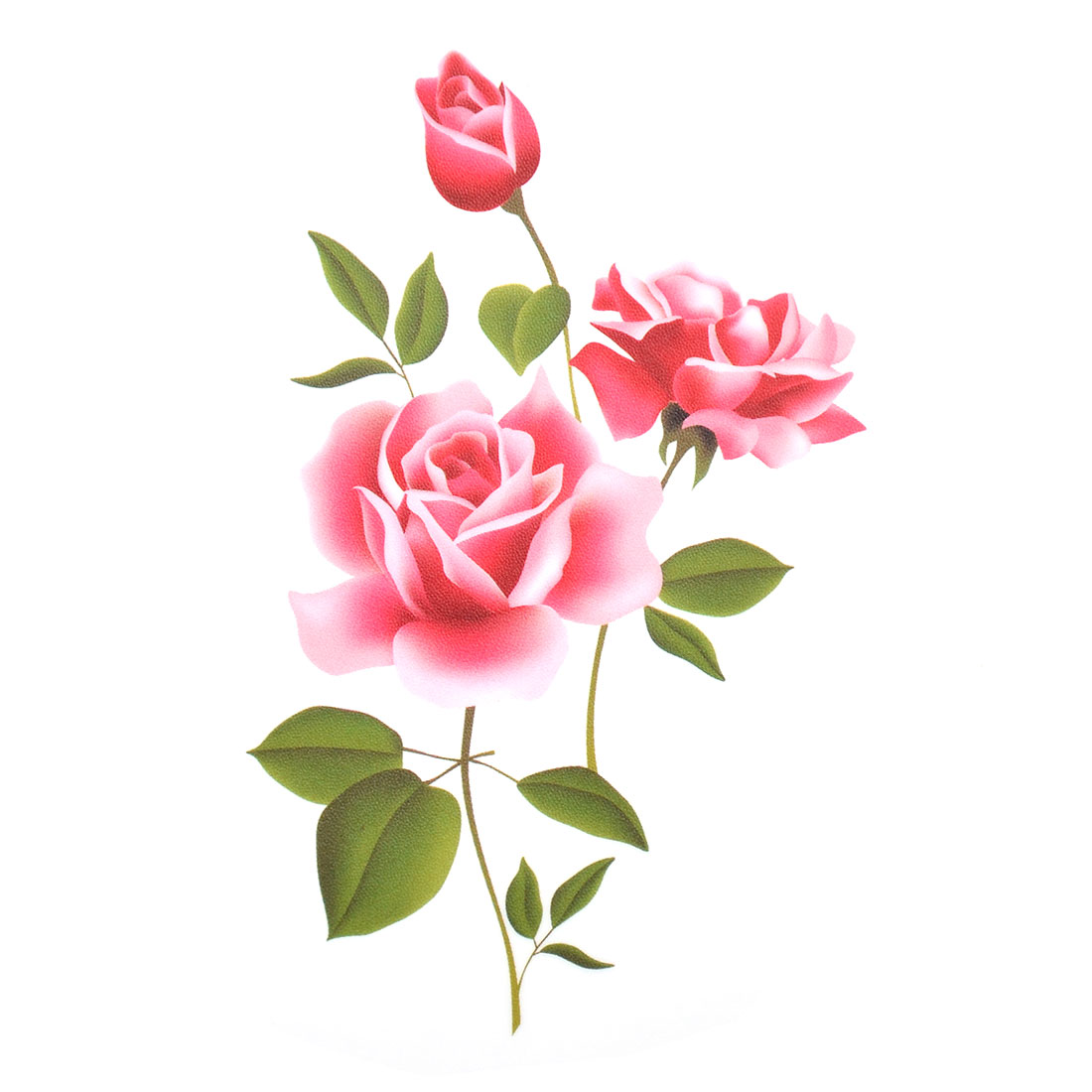 Window Room Art Decal PVC Rose Pattern Wall Sticker Wallpaper 70 x 50cm
