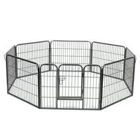 24in Tall 8 Panel Metal Outdoor/Indoor Dog Playpen Run Fence Kennel