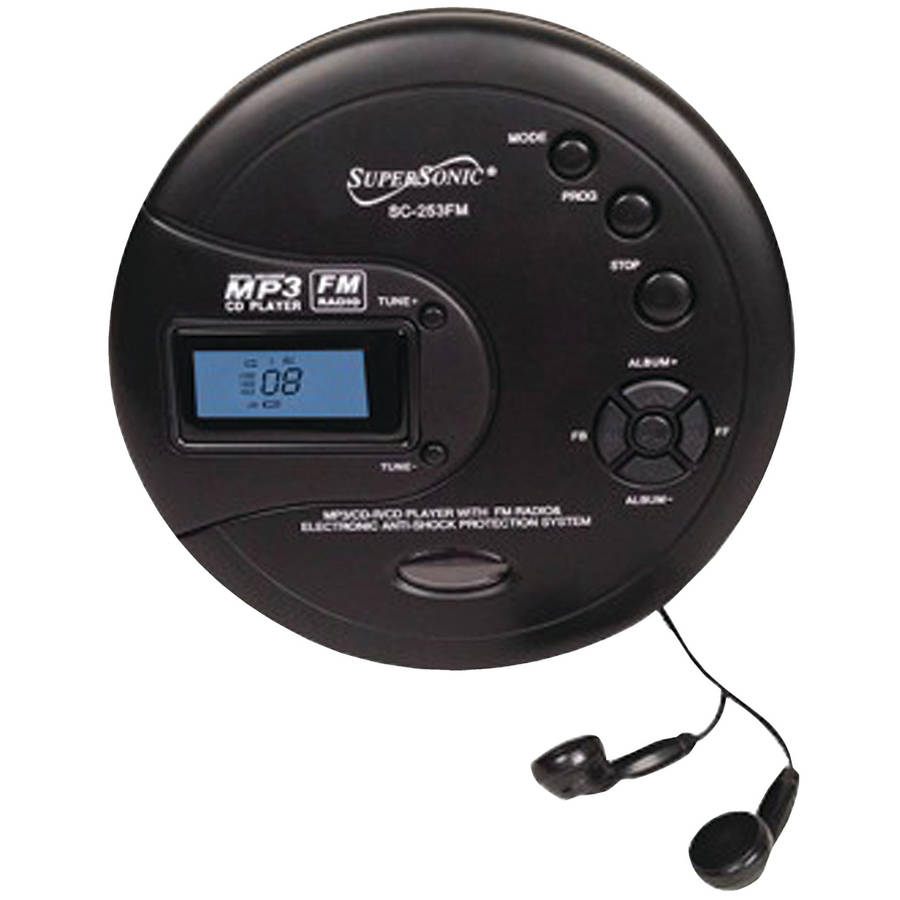 Supersonic Personal MP3 CD Player with FM Radio by Supersonic