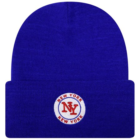 City Hunter Sk901 New York Football City Name Patch Skull Cuffed Beanie Hat