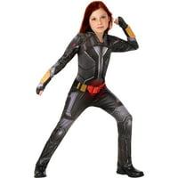 Girls Black Widow Suit Deluxe Child Halloween Costume