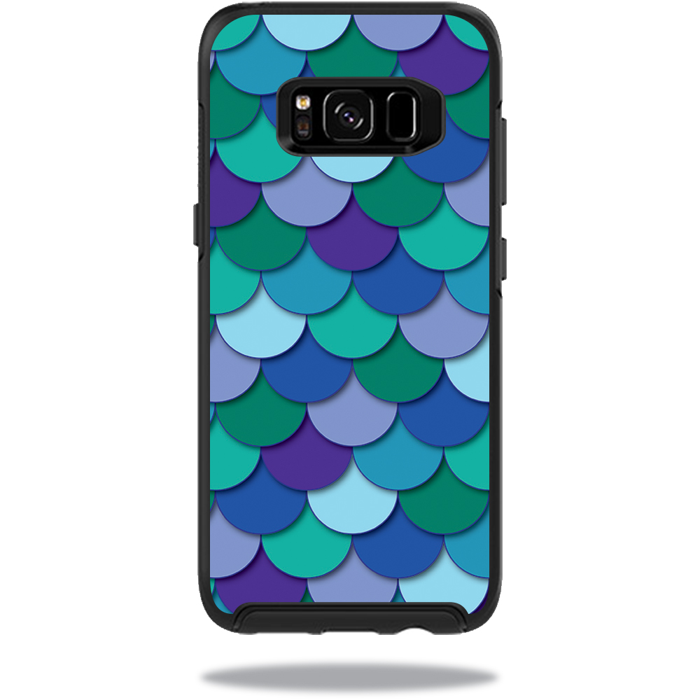 MightySkins Protective Vinyl Skin Decal for OtterBox SymmetrySamsung Galaxy S8 Case sticker wrap cover sticker skins Blue Scales