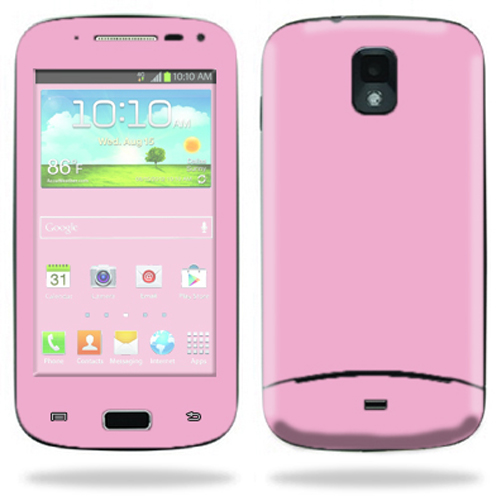 Mightyskins Protective Skin Decal Cover for Samsung Galaxy S Relay 4G T699 Cell Phone T-Mobile wrap sticker skins Solid Pink