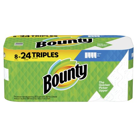 Empty Paper Towel Rolls (Bounty Select-A-Size Paper Towels, White, 8 Triple Rolls = 24 Regular)