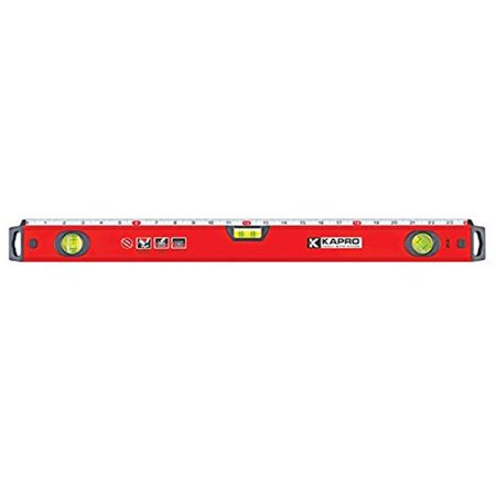 Kapro 770-42-24 Exodus Professional Box Level with 45° Vial & Ruler, 24-Inch Length ()